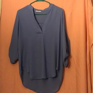 Lush pale blue almost lavender blouse